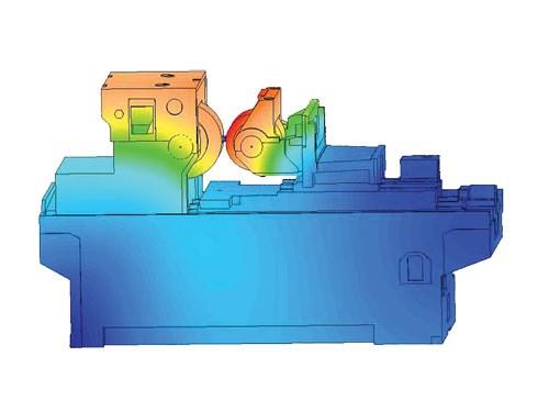FEA image of centerless grinding machine