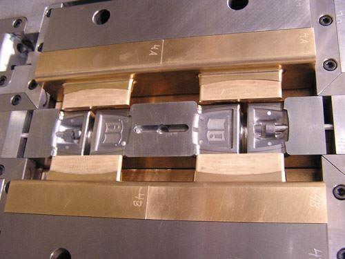 12 cavity seatbelt guide mold