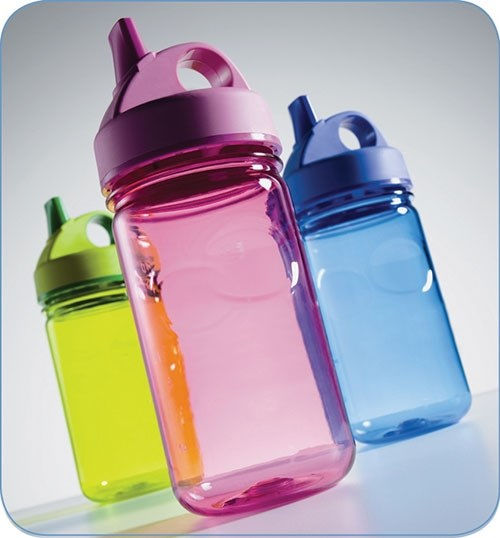 Liquid colors work well in plastic bottle blow molding.