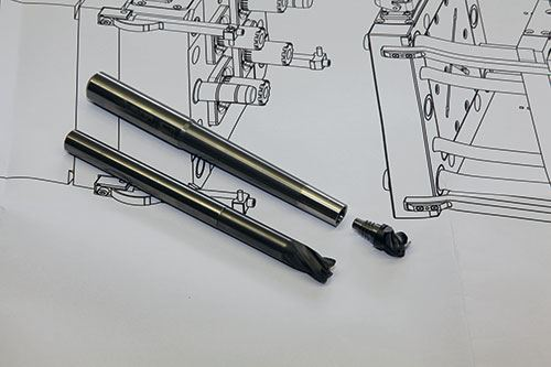 ConeFit Graphit end mills