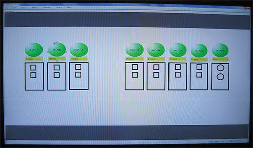 flatscreen slideshow display