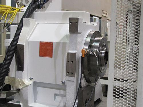 Mazak's headstock testing stand