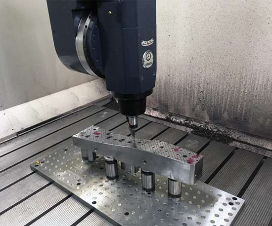 five axis CNC machining center