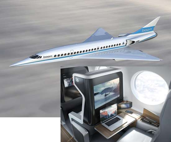 rendering shows the full-scale aircraft's fuselage, wing shape, forward chine