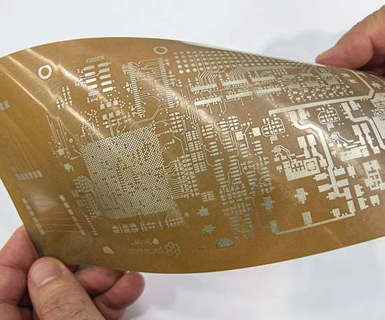 Printed circuitry on thin film with nanoparticle ink