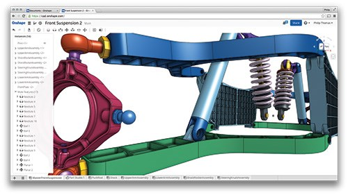 Based on the Parasolid modeling kernel, Onshape is a full-blown 3D CAD system with parametric and direct-modeling functions for designing parts and assemblies.
