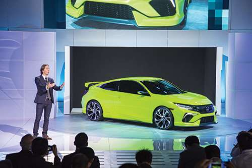 Guy Melville-Brown, who headed up the exterior design for the 2016 Coupe, revealing the design for the first time.