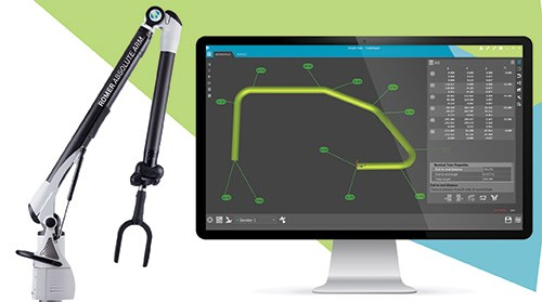 Hexagon has tailored both the ROMER arm and the TubeShaper software to facilitate tube inspection.