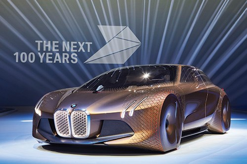 The BMW VISION NEXT 100 concept car was created to mark 100 years of the vehicle manufacturer.