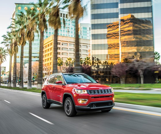 The 2017 Jeep Compass was designed and engineered in the U.S. It is being produced in four plants around the world and will be made available in some 100 countries.
