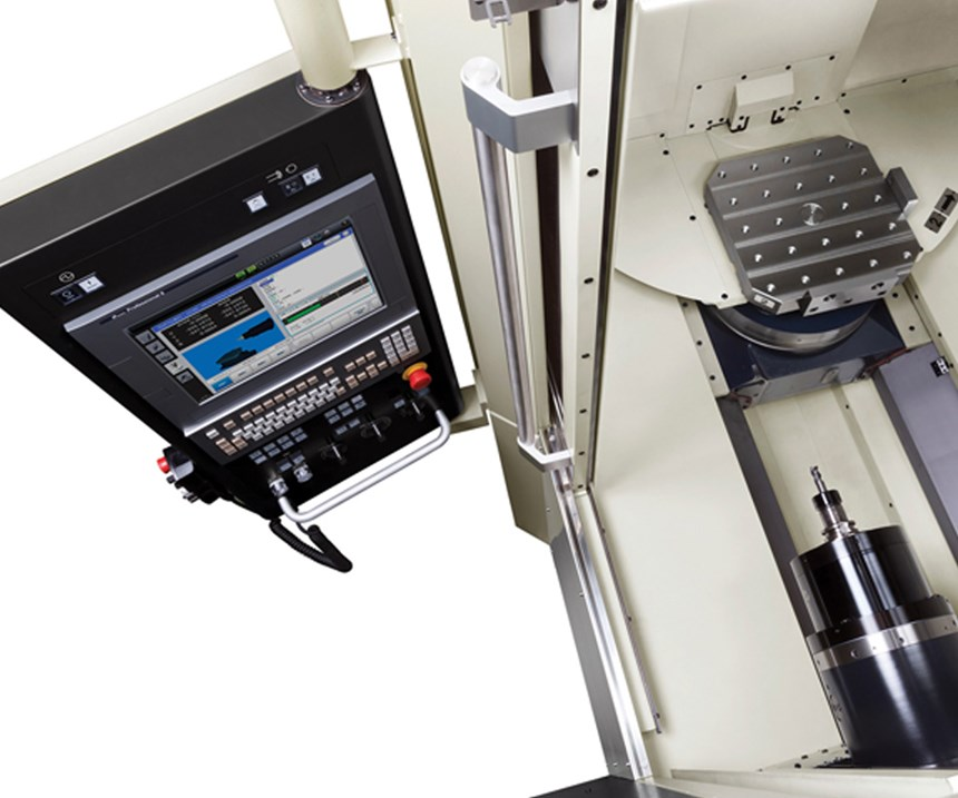 Hardware- and software-based  advances continue to boost  machining center productivity.  (Image courtesy Makino)