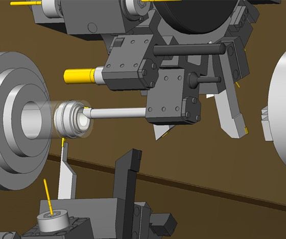 The Tool Setup Manager in Mastercam 2017 communicates directly with the program's machine simulator, which then lets the machinist easily visualize tool locators, stations and mounted tools.