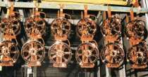 COPPER-PLATED wheels