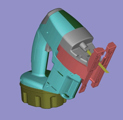 CAD image of a jigsaw.