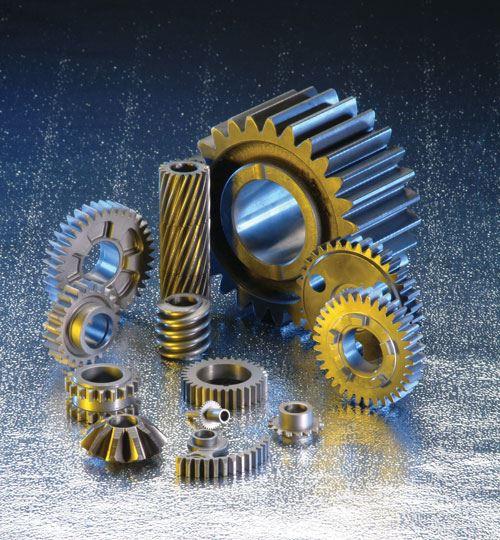 Various gear parts.