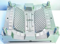 Two-cavity automotive grille mold