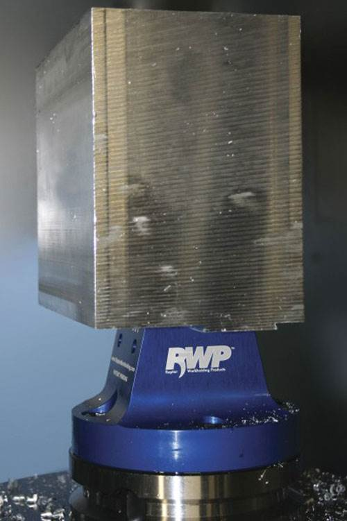 RWP-001 dovetail fixture with blank workpiece.