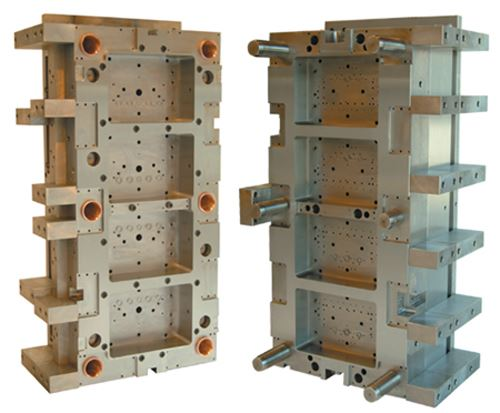 Multi-cavity, low-carbon stainless mold base