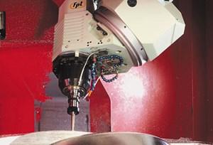 high speed machining close up