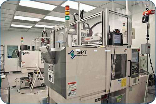 MTD has Sodick Plustech injection molding machines in clean rooms.