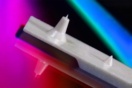 EDM micro milling of LCP medical part.