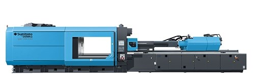 Larger Systec injection molding press from Sumitomo (SHI) Demag.