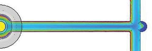 moldflow temperature plot