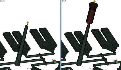mold machine nozzle