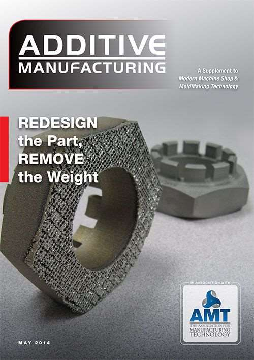 Additive Manufacturing cover May issue 2014