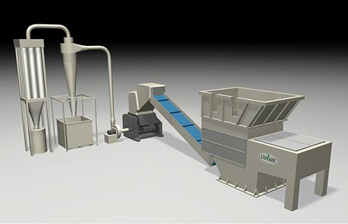 Sistema de dos etapas que podría automatizar el proceso de trituración y posterior granulación