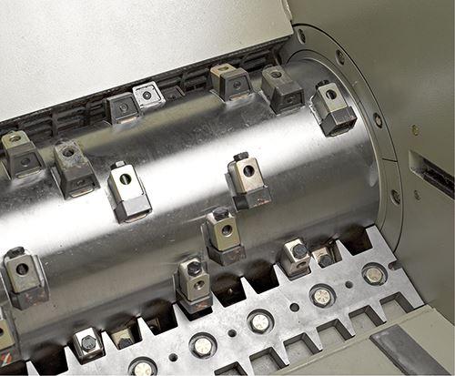 Los rotores de los trituradores suelen ser de acero sólido
