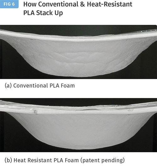 Comparación de durabilidad entre la espuma convencional PLA y la espuma resistente al calor de PLA de Macro.