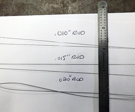 filler rod diameters