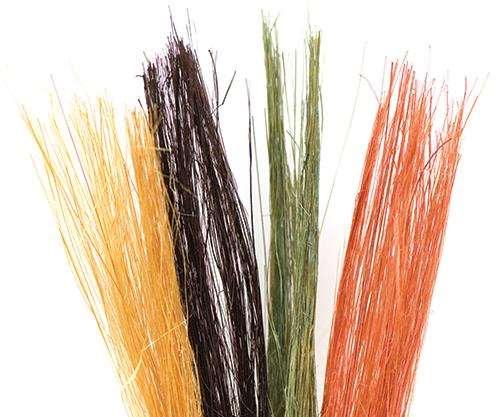 dyed bamboo fibers