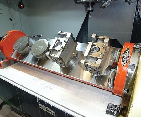 four-station trunnion table