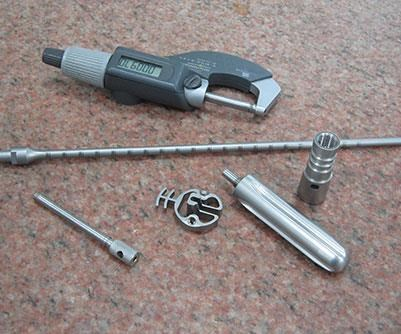 sample of parts produced on the turn-mill