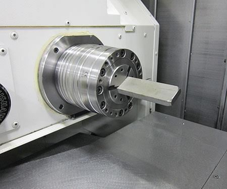 rectangular barstock can be used with its turn-mill