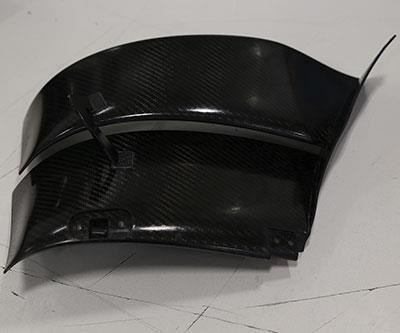 close-up of one of Aerodine's components with free-form contours
