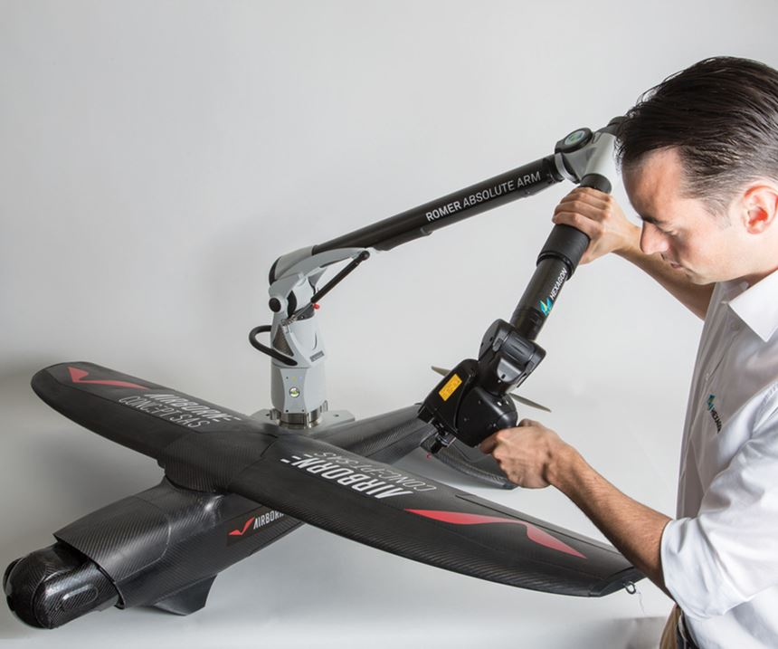 scanner with portable measuring arm