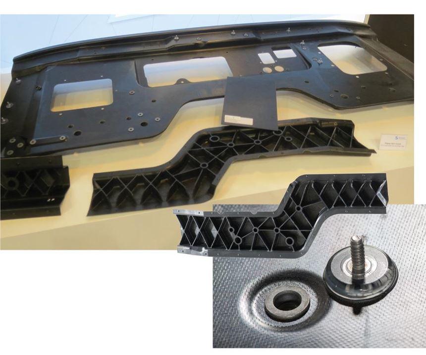 compression molded, glass fiber/PA6 assembly