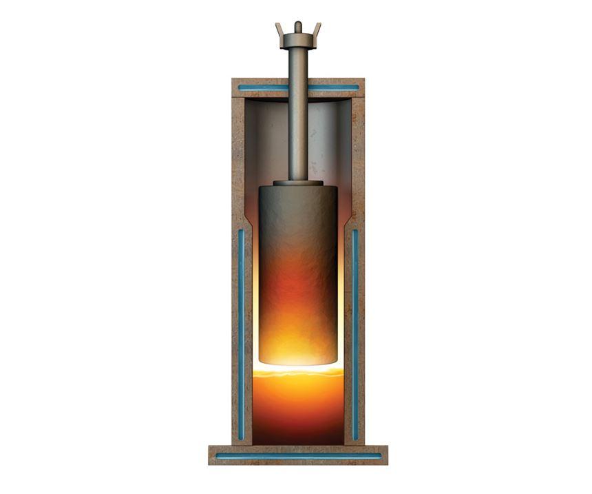 molten slag mold
