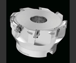 Tedimill cartridge cutter face milling an aluminum part