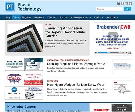 plastics technology new responsive website design