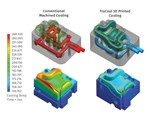 DME Milacron mold inserts with conformal cooling by 3D printing