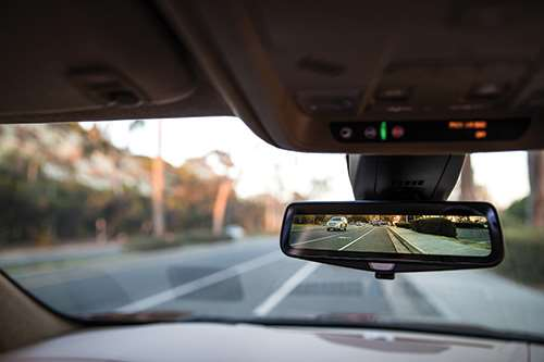 Streaming video images displayed on the rearview mirror can increase a driver's field of vision by as much 300 percent.