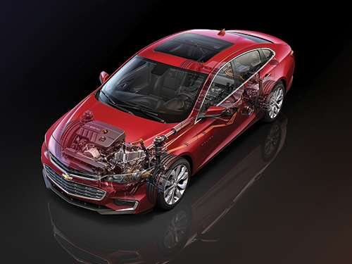 There is an array of powertrain setups from which to choose. As in a 160-hp 1.5-liter turbo mated to a six-speed, a 250-hp 2.0-liter turbo mated to an eight-speed and a hybrid that is projected to provide 47 mpg combined.