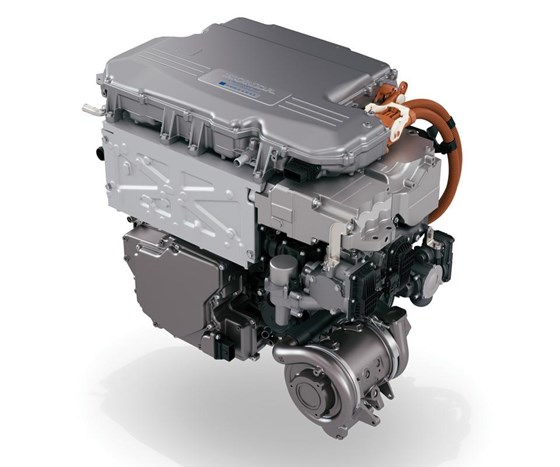Dimensionally, the Clarity fuel cell powertrain—24.5  inches wide, 27.6 inches high and 34.1 inches long— is approximately the same size as a Honda V6 engine. Consequently, the packaging is much the same.