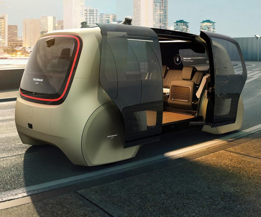 Note how wide the doors open, which make getting in and out easy. Realize that as children and the elderly are two demographics for whom autonomous vehicles would be helpful, this ingress and egress is beneficial.