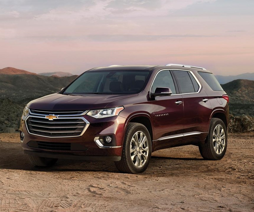 With three rows of seating, the Chevy Traverse can seat up to eight.