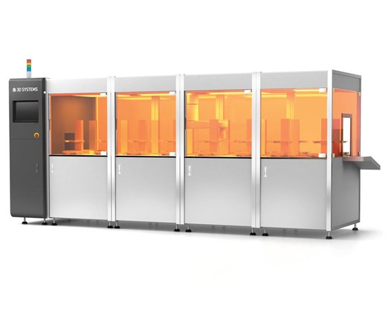 The Figure 4 from 3D Systems is a new a production platform that mates robotic automation with plastic parts production.